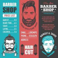conjunto de banner de barbearia vetor