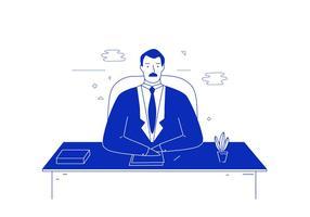 Ilustração do homem de negócio vetor