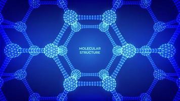 banner futurista de estrutura molecular