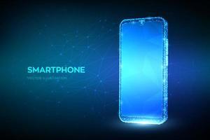 banner futurista de smartphone vetor