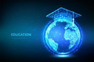 banner educacional online de e-learning vetor