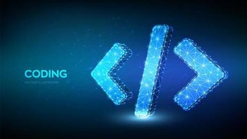programação e codificação de banner futurista