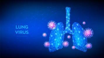 banner futurista de pneumonia viral vetor