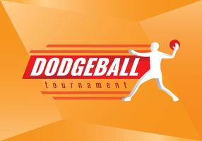 Livre Logo Dodgeball Torneio Vector