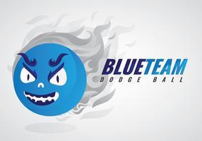 Logo livre Dodgeball Equipe Vector