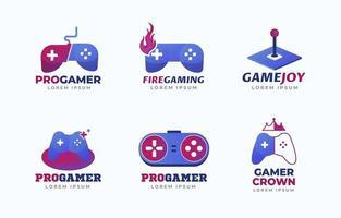 coleção de logotipo de jogos vetor