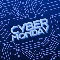 fundo cibernético segunda-feira vetor