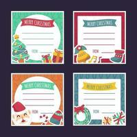 coleções de cartões de natal com linha de texto