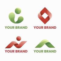 coleção de logotipo de forma abstrata vetor