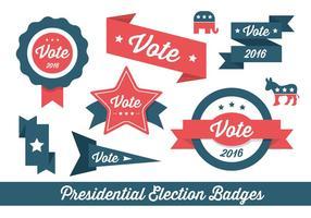 Eleição Vector Badges e Elementos