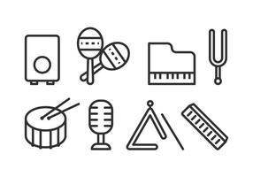 Ícones do instrumento livre música vetor
