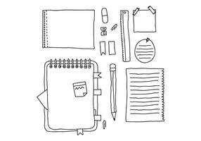 Notas doodled vetor