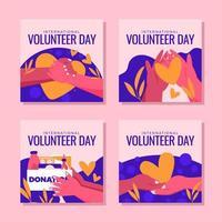 ajudar pessoas necessitadas durante o dia de voluntariado vetor