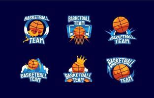 logotipo do time de basquete vetor