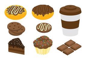 Ícones do chocolate livre Vector