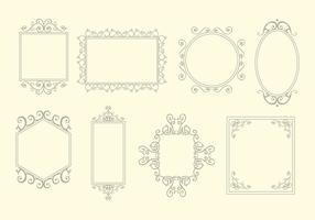 Scrollwork quadros elemento vector