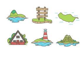Livre Único Ilha Vectors
