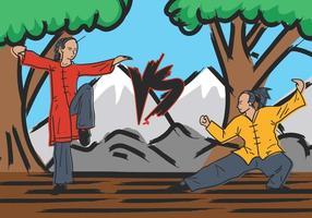 Wushu Mestres Ilustração vetor