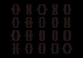 Conjunto de ícones do suporte vetor