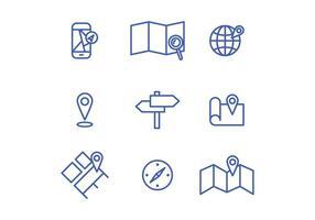 localização Icons vetor