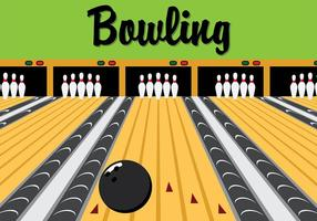 Vector Retro Bowling Lane