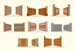 Pacote de vetores de portas abertas