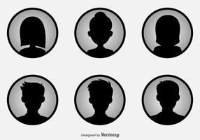 Headshot ícones do vetor