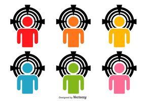 Headshots ícones do vetor
