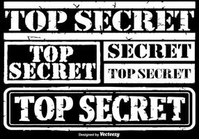 Conjunto de selos secretos de vetores