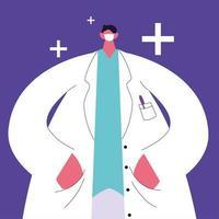 homem médico em pé, equipe médica