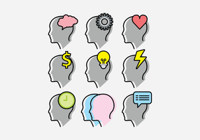 Headshot do ícone do vetor