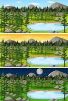 cena da paisagem da natureza vetor