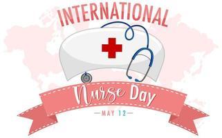 dia internacional da enfermeira vetor