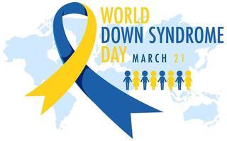 síndrome de down do mundo em 21 de março vetor