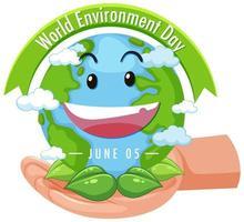 ícone do dia do meio ambiente mundial
