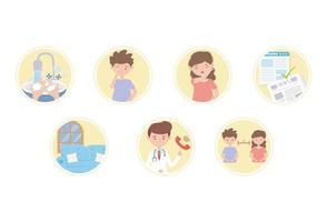 prevenção de coronavírus e conjunto de ícones de dicas vetor