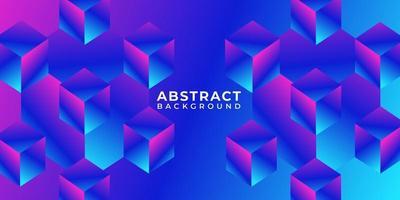 forma de caixa geométrica abstrato fundo multicolor vetor