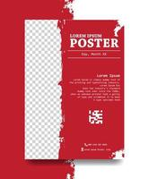 desenho de cartaz com cor vermelha vetor