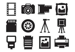 Livre Fotografia e ícones da câmera Vector