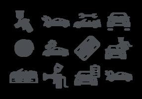 Vector Auto ícones do corpo