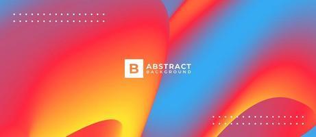 fundo de forma de fluxo multicolorido abstrato vetor