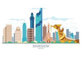 Vetor do horizonte de bangkok