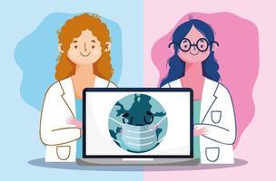 conceito de saúde online vetor