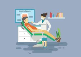 Livre de Ilustração Dentista assustador vetor