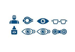 Médicos doutor de olho Icons vetor