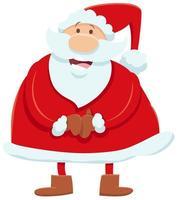 personagem de desenho animado do papai noel na época do natal vetor
