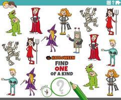 jogo único com personagens de halloween vetor