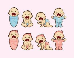 Bebê de grito dos desenhos animados Vector
