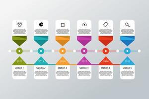 modelo de infográfico de cronograma vetor