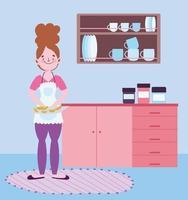 jovem cozinhando na cozinha